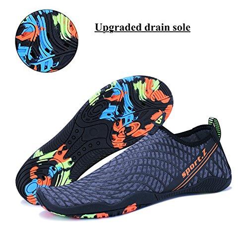Femme Hommes D'eau Chaussures Et Aquatique Pour bleu Plage Rapide Piscine Sport Chaussons Séchage 3 Wysbaoshu 5FdqwS5