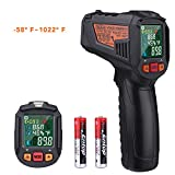 Infrared Thermometer, Tacklife -58℉~1022℉(-50℃~550℃) Laser Temperature Gun with Color LCD Screen, Humidity Measurement, Adjustable Emissivity, Alarm Setting- IT-T10