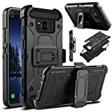 #7: Galaxy S8 Active Case, Venoro Heavy Duty Armor Shockproof Rugged Protection Case Cover with Belt Swivel Clip and Kickstand for Samsung Galaxy S8 Active 5.8