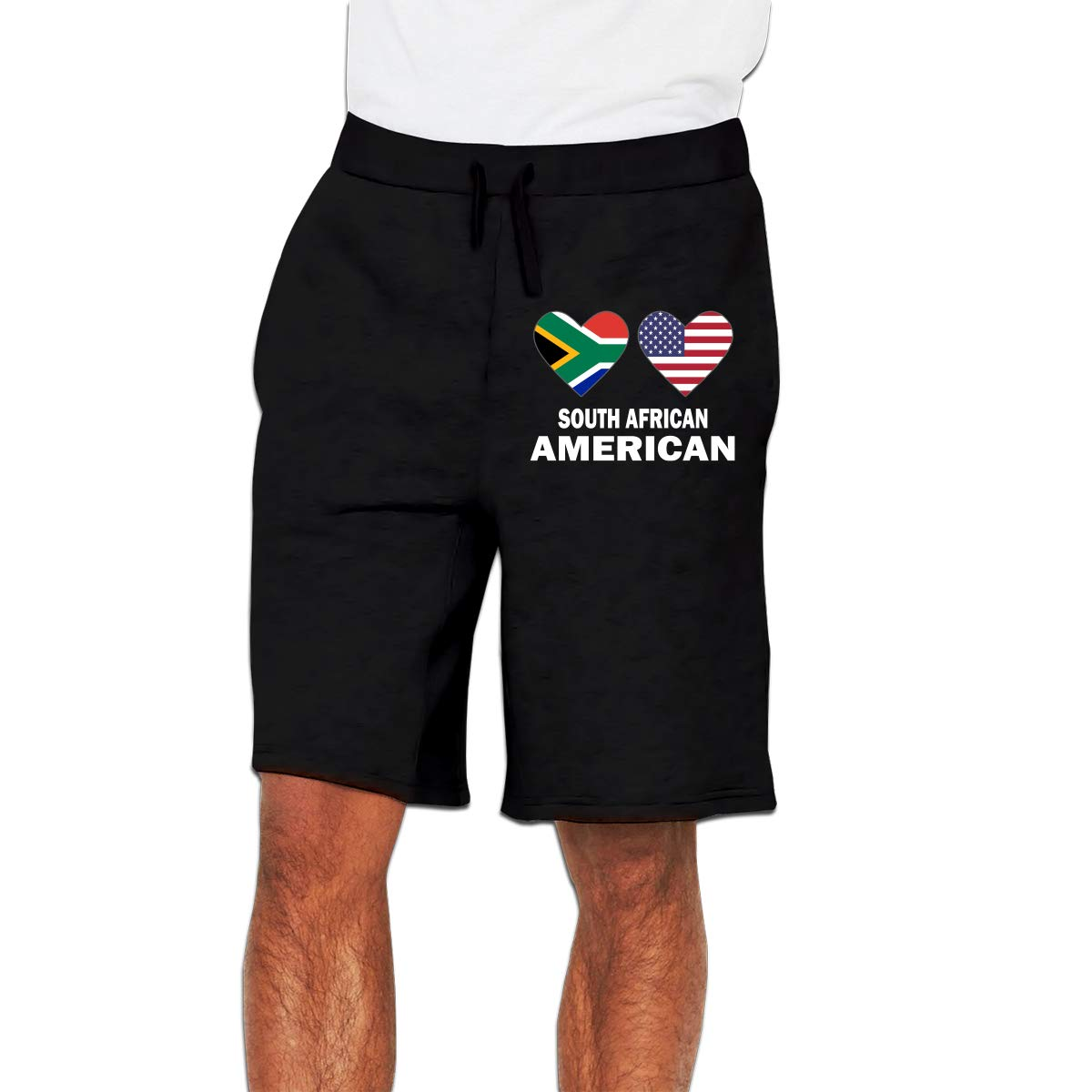 YDXC6FY Mens Beach Shorts South African American Hearts Patterned Club Shorts