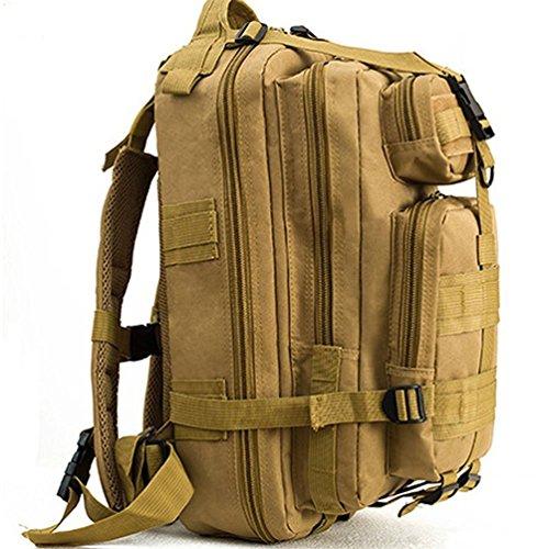 hmildyk Sport Outdoor Militär Oxford Tactical MOLLE Rucksack Camping Wandern Trekking Tasche Tan