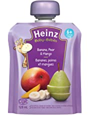 Heinz Baby Banana, Pear & Mango Pouch, 128mL (Pack of 6)
