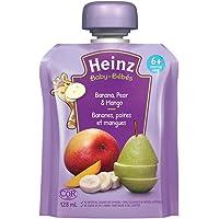 HEINZ Strained Banana, Pear & Mango Pouch, 6 Pack, 128ML Each