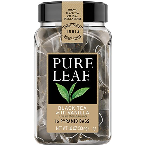 Pure Leaf Hot Tea Bags, Black Tea with Vanilla 16 ct