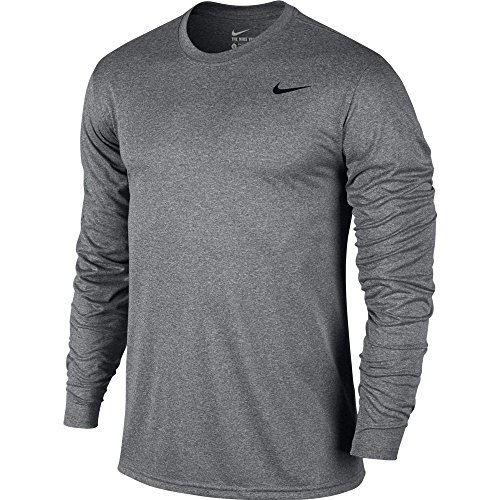 Nike Mens Legend 2.0 Long Sleeve Tee Carbon Heather/Grey/ LG Legend S/s Tee