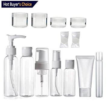 deeee97180ad Amazon.com : Travel Size Toiletry Bottles Set, TSA/Airline Approved ...