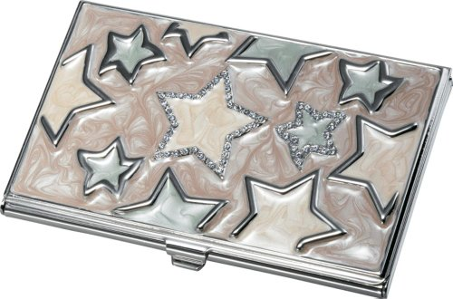 (Visol Products Vidya Stars Lacquered Business Card Holder for Women)