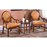 Best Master Furnitures 3 Pcs Accent Arm Chair Set
