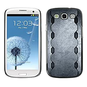 GagaDesign Phone Accessories: Hard Case Cover for Samsung Galaxy S3 - Minimalist Steel Pattern