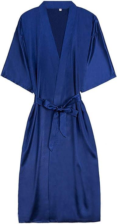 FELZ Camisón con Bata De Noche Mujer Bata Mujeres Kimono Punto De AlgodóN Albornoz Batas Kimono Ropa De Dormir CamisóN: Amazon.es: Ropa y accesorios