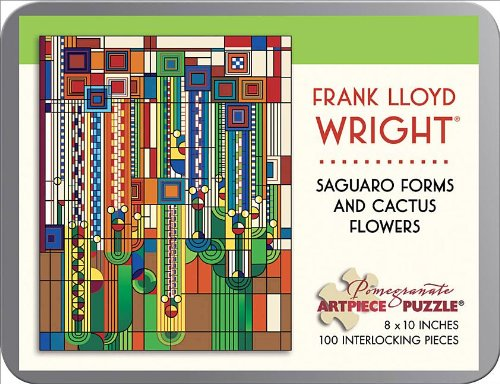 Frank Lloyd Wright - Saguaro Forms and Cactus Flowers: 100 Piece Puzzle