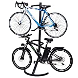 GJH One Freestanding Gravity Bike Storage Rack Stand Two Bicycles Holds Display Garage Hanger