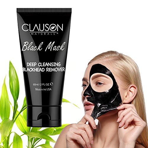 Natural Black Mask Peel with Oxygen Activated Carbon Charcoal 2oz, Peel off Mask, Face Blackhead Mask ()