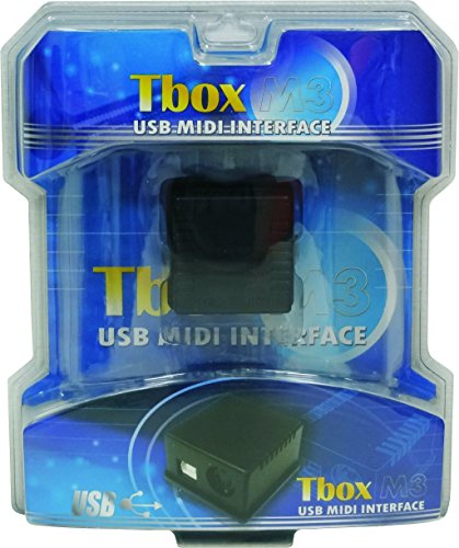 (Tbox M3 in, out, thru USB MIDI interface)