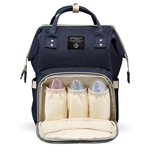 Smilism Diaper Bag Backpack for Baby Care, Multi-Functional