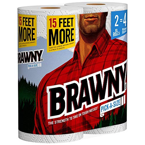 Brawny Paper Towels, 16 XL Rolls, Pick-A-Size, White, 16 = 32 Regular Rolls by Brawny (Image #3)