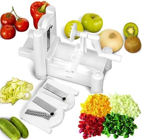 3 in 1 Spiral Slicer Cutter Spiralizer Shred For Vegetable Fruit Twister Peeler