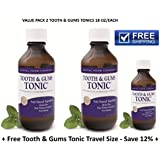 Tooth and Gums Tonic - Value Pack 2 Bottles + 1 Free Tonic Travel Size