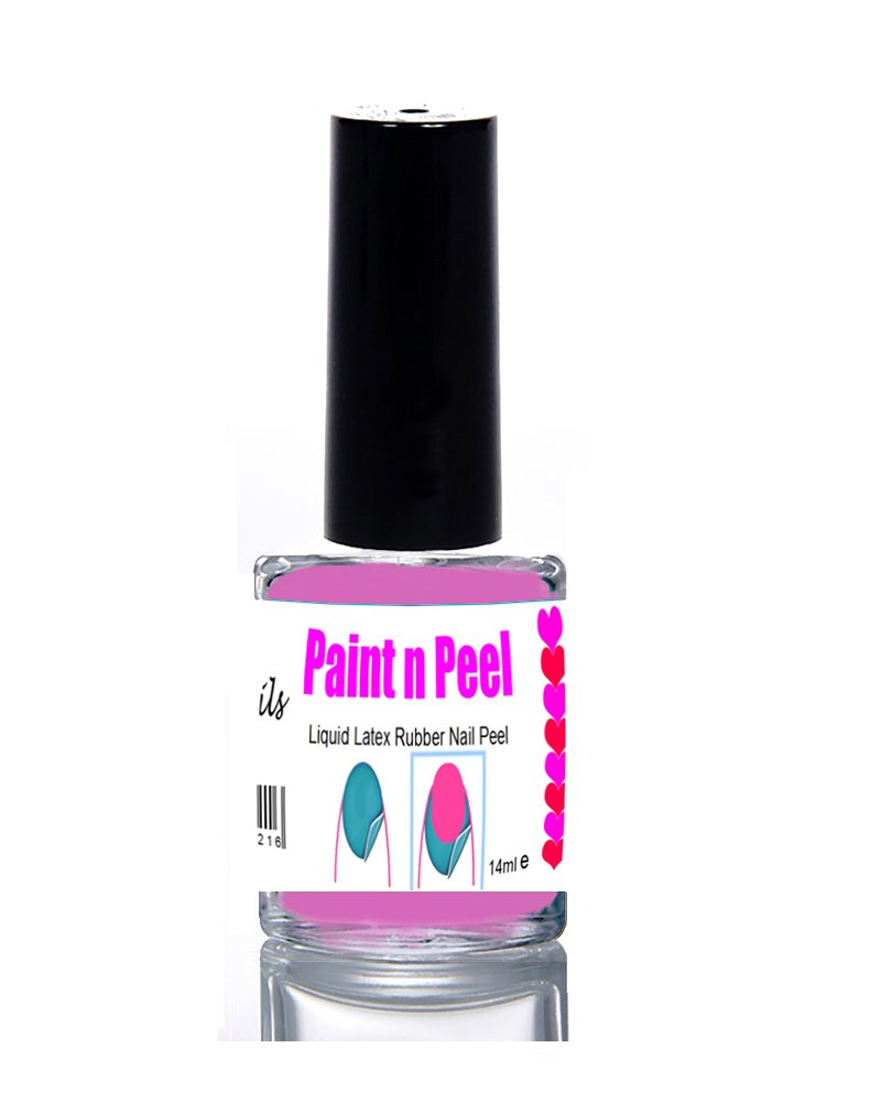 Nail Paint & Peel Off Liquid Nails Art Tape Blue Latex Rubber ...