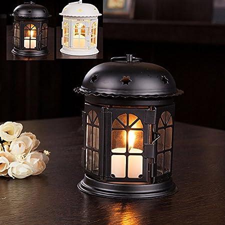 centrotavola Nuziale portacandele Koowaa Stile Vintage Decorazione per Feste di Compleanno Mini Lanterne Decorative in Metallo