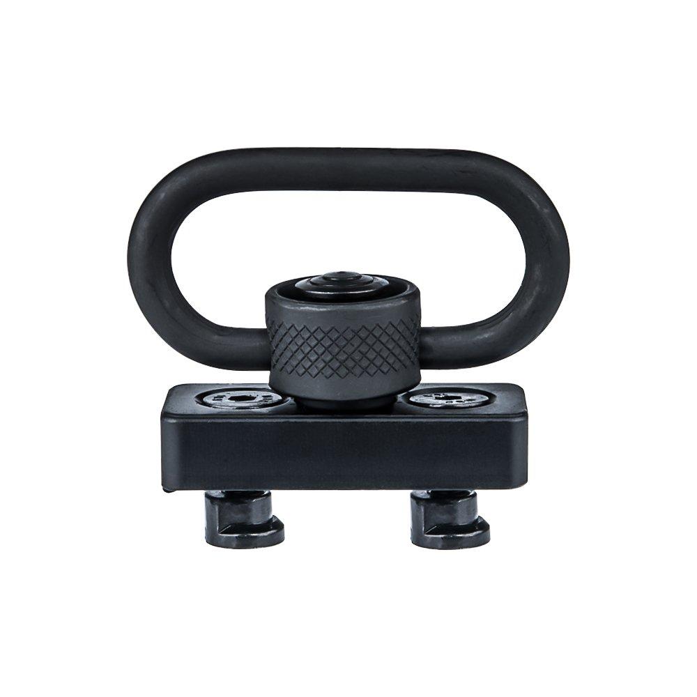 Omamba Keymod Sling Mount, Push Button QD Sling Swivel Adaptor 1.25 for Keymod Rail Handguard