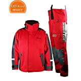 Navis Marine Sailing Jacket and trousers,Foul Weather Rain suit,Red …