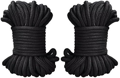 Cuerda de algod/ón UWIME cuerda suave de uso m/últiple que ata la cuerda duradera natural Trenza de algod/ón fuerte cuerda larga multifuncional de la correa multicolor
