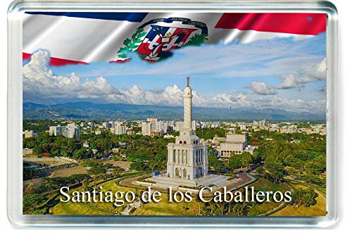D310 Santiago de los Caballeros Refrigerator Magnet The Dominican Republic Travel Fridge Magnet ()