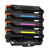 4 Inktoneram Replacement toner cartridges for HP CF410X CF411X CF412X CF413X, 410X Combo Pack for Color LaserJet Pro M452dn M452dw M452nw MFP M377dw MFP M477fdn M477fdw M477fnw