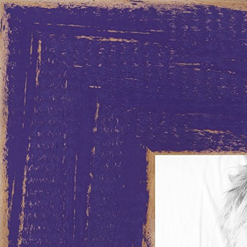 ArtToFrames 8x10 inch Weathered Barnwood in Saturated Purple Wood Picture Frame, - Frame Purple