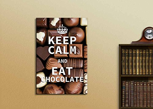 Keep Calm and Eat Chocolate Wall Decor Stretched
