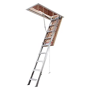 Werner, AE2210, Attic Ladder, Iaa, 375 Lb, 3 in. Step W