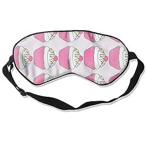 Sleep Mask 100% Natural Silk Eye Mask Glittering Blindfold Cupcake Eye Cover Unisex Ultimate Sleeping Aid Eyeshade
