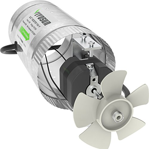 4 Inch Duct Fan : Vivosun inch inline duct booster fan cfm low noise