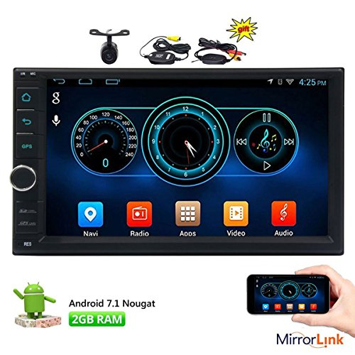 - EinCar 7 inch Android 7.1 Car Stereo Nougat Octa Core 1024600 Capacitive Touch Screen No DVD Player GPS Navigation Radio OBD2 WIFI 3G 4G ScreenMirror + Wireless Camera