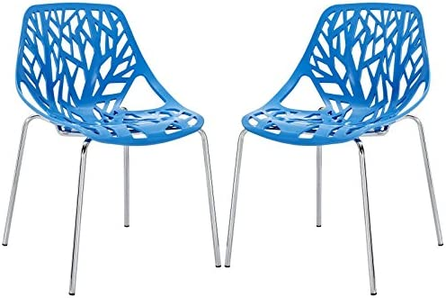 Modway Stencil Modern Stacking Two Kitchen and Dining Room Chair