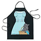 ICUP Wizard of Oz - Dorothy Be The Character Adult Size 100% Cotton Adjustable Black Apron