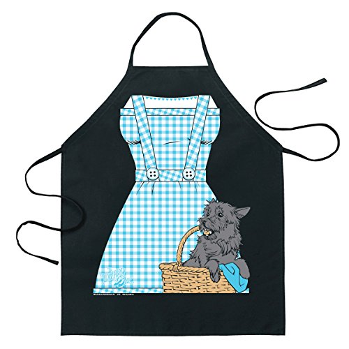 ICUP Wizard of Oz - Dorothy Be The Character Adult Size 100% Cotton Adjustable Black Apron (Oz Wizard Characters)