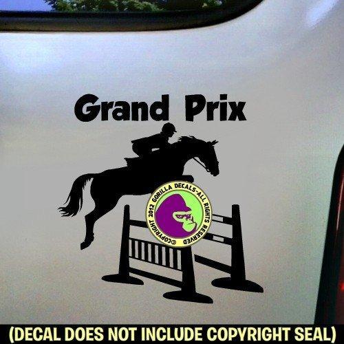 GRAND PRIX Spread Jump Hunter Jumper Vinyl Decal Sticker B