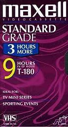 Maxell 213027 T-180 9 Hours Standard Grade VHS