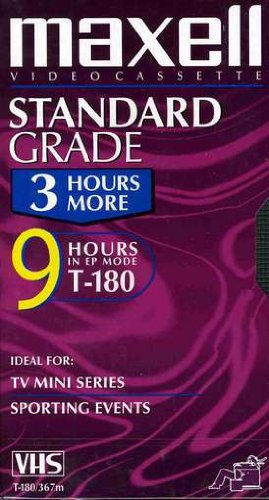 Maxell 213027 T-180 9 Hours Standard Grade VHS