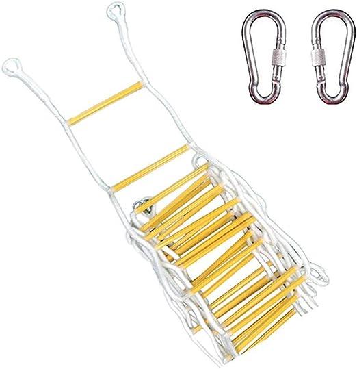 QXY Escaleras Accionadas por Cuerda, Escalera De Escape con Ganchos - Escaleras De Escape De Emergencia De Emergencia - Escape De Escalera De Seguridad Suave Desde La Ventana Y El Balcón 25m(984inch):