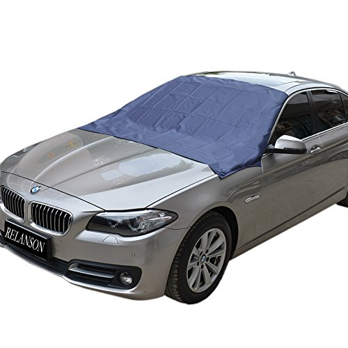 "Magnetic Edges Windshield Snow Cover - Frost Windshield Cover - Snow, Ice, Frost Guard No More Scraping - Door Flaps Windproof Fits Most Car, SUV, Truck, Van with 70""x 54"""
