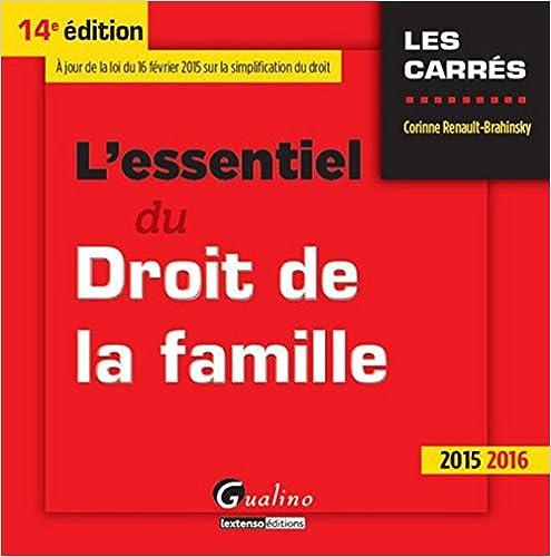 Livre gratuits L'essentiel du droit de la famille pdf, epub