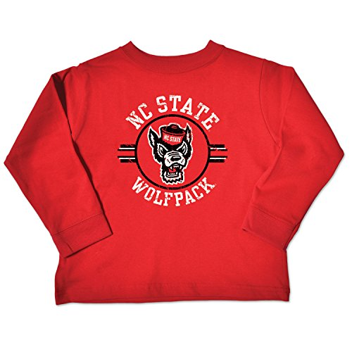Nc State Wolfpack Classic Shirt (NCAA North Carolina State Wolfpack Toddler Long Sleeve Tee, 3 Toddler, Red)