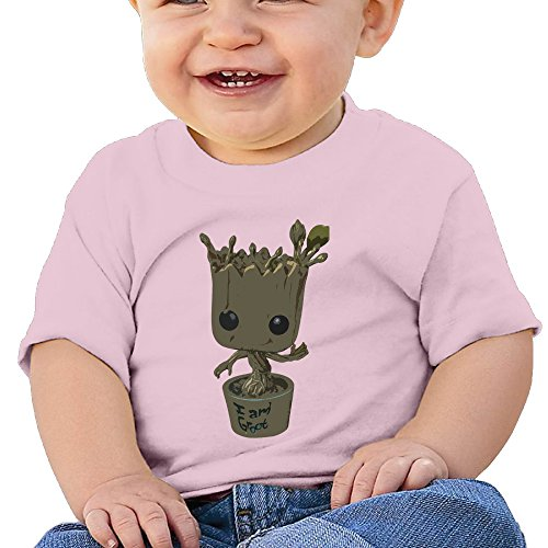 Price comparison product image NUBIA Toddler Guardians Baby Groot Short-Sleeve Tshirts Pink 24 Months