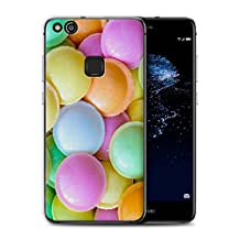 STUFF4 Gel TPU Phone Case / Cover for Huawei P10 Lite / Flying Saucers Design / Confectionery Collection