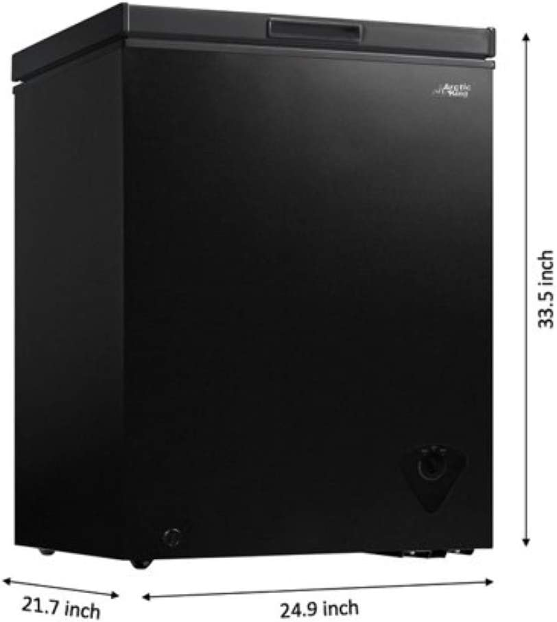 5 cu ft Chest Freezer for Your House Timeshare Cabin Basement Kitchen Lake House Garage or Business Apartment