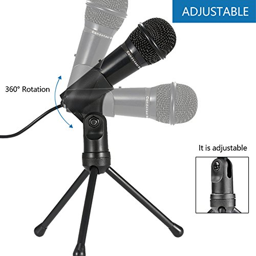 Jeystar SF-910 Condenser Sound Microphone with 3.5mm Audio Plug & Tripo For Computer PC by Jeystar (Image #7)
