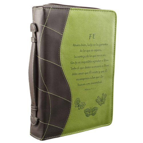 Green Fe Bible / Book Cover - Hebrews 11:1, 6 (Large) (Spanish Edition)